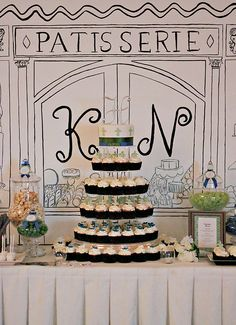 The Couture Cakery • Designer Cakes, Cupcakes, Dessert Table Designs in Central Pennsylvania: Kristi & Nathan's Parisian Inspired Sweets Table