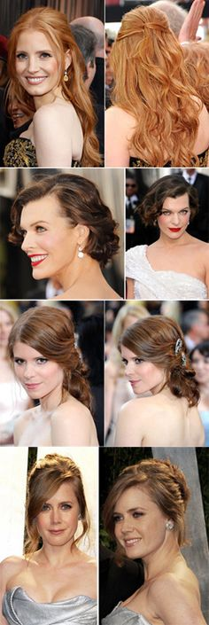 Bridal Hairstyle Inspiration from the 2012 Oscars