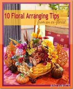 10 Tips for Flower Arranging from an ex-florist by @Muralmaker1