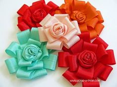 Tutorial for Ribbon Flowers. Great!