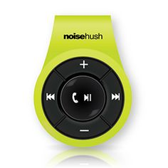 NoiseHush NS560 Clip-on Bluetooth Stereo Headset - Lime Green -