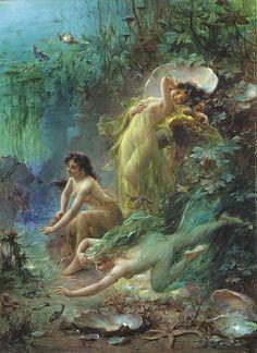 """""""Pearls of the Sea"""" by Hans Zatzka"""