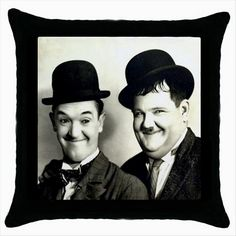 LAUREL AND HARDY Black Cushion Cover Throw Pillow Case Gift http://stores.shop.ebay.co.uk/giftbazaar