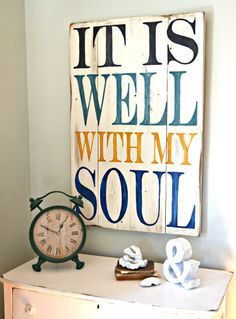 It is well with my soul - Aimee Weaver Designs decor, sign, it is well with my soul pallet, inspir, hous, quot, old pallets, front porches, pallet wood