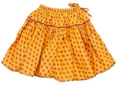 myrtle skirt - mineral yellow tiny flower