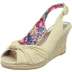Wild Diva Women`s Molly-03 Wedge Sandal,Beige,6 M US
