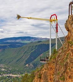 ride the giant canyon swing at glenwood caverns!