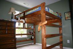 queen loft bed plans - Google Search