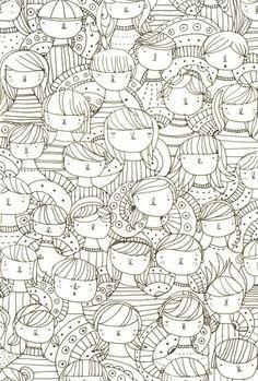 Coloring draw, coloriag, pattern, doodl, sigrid martinez, illustration art, ray ban sunglasses, print, design