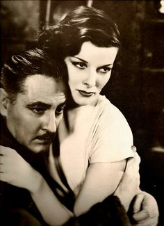 Katharine Hepburn and John Barrymore in A Bill of Divorcement (1932)