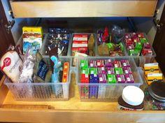 Organized pantry drawer