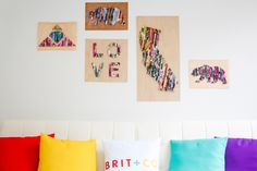Turn old magazines into wall art