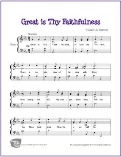 Great is Thy Faithfulness | Free Sheet Music for Piano
