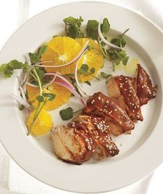 Roasted Chicken With Mole Sauce and Citrus Salad