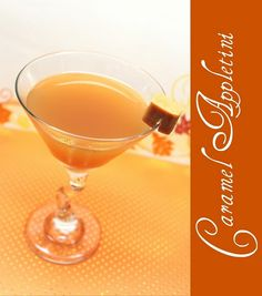 Caramel Appletini; this looks to die for!