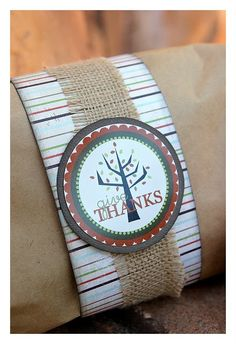Give thanks tags for Thanksgiving gifts