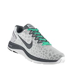 Leopard and teal nike shoes. #workoutclothing