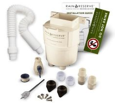 Rainwater collection kit-RainReserve COMPLETE Diverter Kit.  Turn ANY food grade barrel into a non-over flowing, no maintenance, leaf, debris and algae free Rain Barrel complete with a High Flow Spigot. The ONLY Diverter that is MADE IN THE USA using recycled Food Grade Plastic!! And as a BONUS it is also FREEZE Proof and UV Resistant!! Patented in 2006, this is the ONLY Divereter you will ever own!  Available at RainBarrelsNmore.com