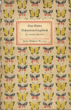 Vintage book cover: butterflies