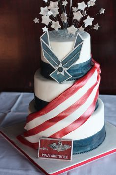 Hubby's Air Force Retirement Cake