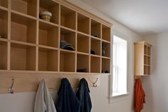 Perfect for kids with lower hooks and more cubby storage for hats and mittens and keys and mail ...