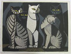 5 cats   Tomoo Inagaki