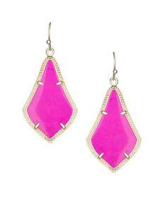 Alex Earrings in Magenta - Kendra Scott Jewelry. Now available!