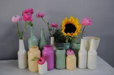 Spray paint vases!