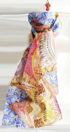 Bufanda - Echarpe by Lita Blanc, via Flickr