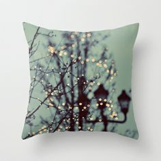 Love the colours! Winter Lights Throw Pillow by Elle Moss - $20.00