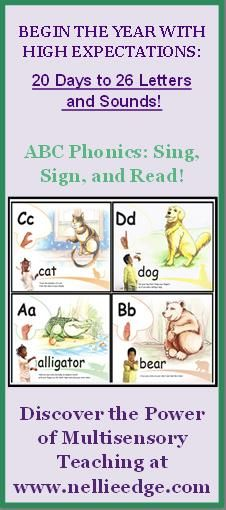 See ABC Phonics tab at nellieedge.com for additional resources that support ABC Phonics: Sing, Sign, and Read!