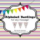 Decorate your classroom with this adorable Alphabet Bunting!Included is all letters uppercase and lowercase, as well as a blank flag to use for s... idea, flag, rainbows, buntings, alphabet bunt, teacher, stripe rainbow, ador alphabet