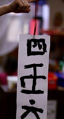 Chinese Writing Decoration
