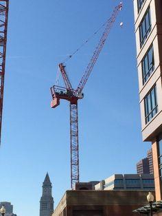 A beautiful Boston crane on a beautiful Boston morning, taken by one of my many buddies named Pete.
