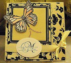 Monarch Butterfly card by Jan Farnworth
