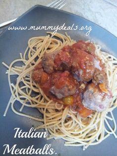 Italian Meatballs from #mummydeals