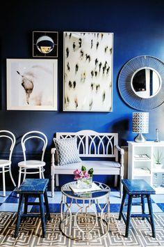 Beautiful blue room!