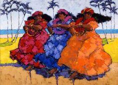 Hawaiian Hula Ladies by Al Furtado at Maui Hands