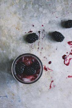 Blackberry SAGE Jam Cocktails | With Food + Love