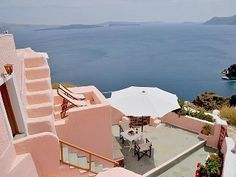 Pink Cave House,Bioclimatic, 2-8 Pers,  Private Panoramic Caldera View