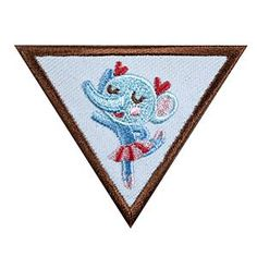 Girl Scout Brownie Dancer Badge. Check out the requirements in The Girl's Guide to Girl Scouting. Girl Scout badges only $1.50.