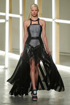 Gothic Couture: Black Fringe Power Dress from Rodarte Spring 2013. Via Fashionista.com.