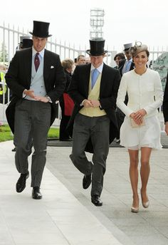 The adorable trio are spotted at Epsom Derby Day in June 2011 in their finest duds.