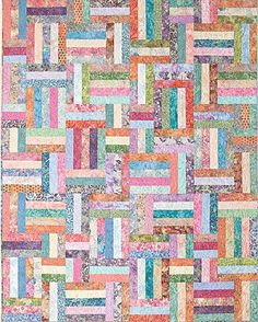 Have this, haven't done it though.  The Virginia Quilter - Quilting Patterns - Atkinson Designs - Popsicle Sticks Quilt Pattern