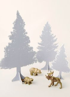 DIY tabletop trees with free printable templates!
