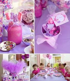 Ballerina + Ballet themed birthday party via Kara's Party Ideas KarasPartyIDeas.com Inviatation, candy, cupcakes, cake, supplies and more! #...