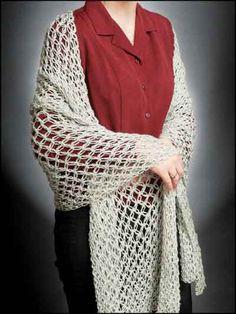 Solomon's Knot (Lover's Knot) Shawl free crochet pattern