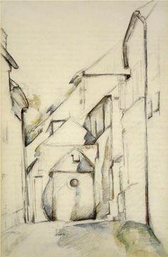Church of Saint-Pierre in Avon - Paul Cezanne 1894