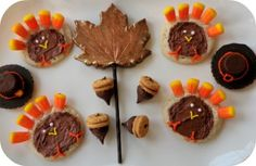 cute kid-friendly thanksgiving dessert recipes.  bite size makes it nice for all!