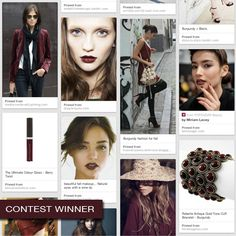 Announcing the winners of the BECCA The One Fall Inspiration Contest: @Sheri Lee inspired by dark reds, like maroon and burgundy, and a hint of gold for some sparkle!